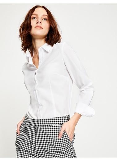 Klasik Yaka Uzun Kollu Gömlek-Koton
